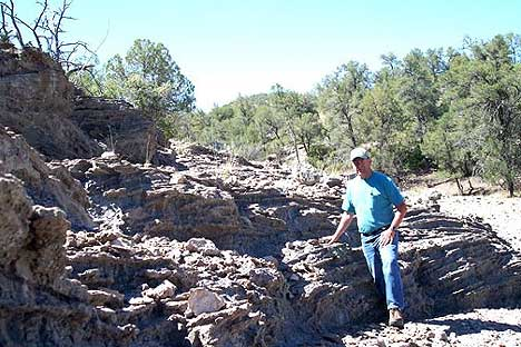 Figure 5.2 A recent photograph of Shackley at the Antelope Creek locality of the Mule Creek obsidian source in western New Mexico. Courtesy of M. Steven Shackley.