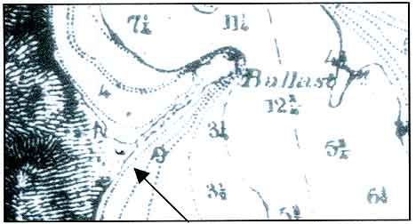 Figure 8.9 1857 Map of San Diego showing location of Fort Guijarros. Set 10, No. 35 by Linden Lohe.